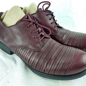 Fabrizio Chini Burgundy Leather Oxford 162-12